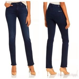7 For All Mankind Jeans High Rise Straight Leg 27